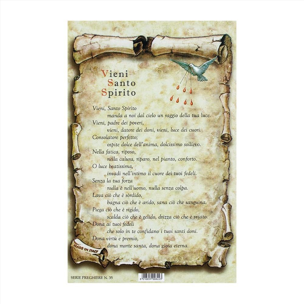 Preghiera Vieni Santo Spirito