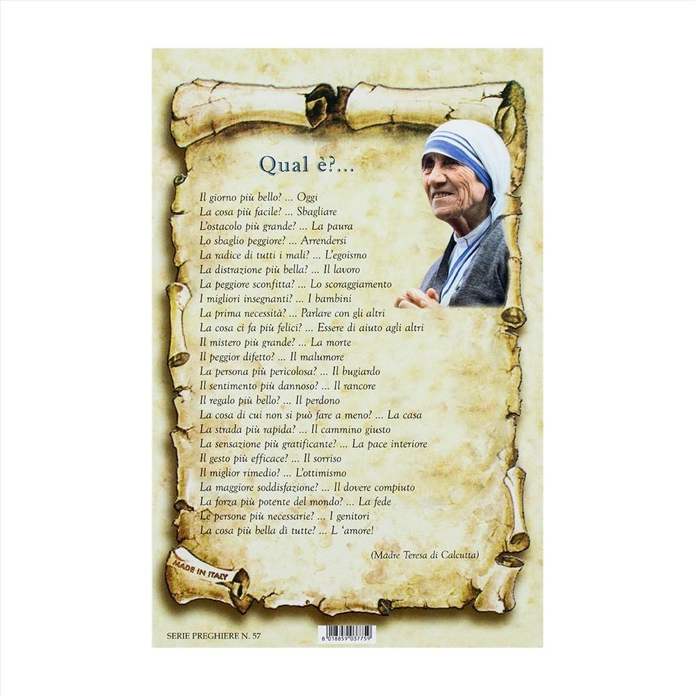 Preghiera Madre Teresa di Calcutta