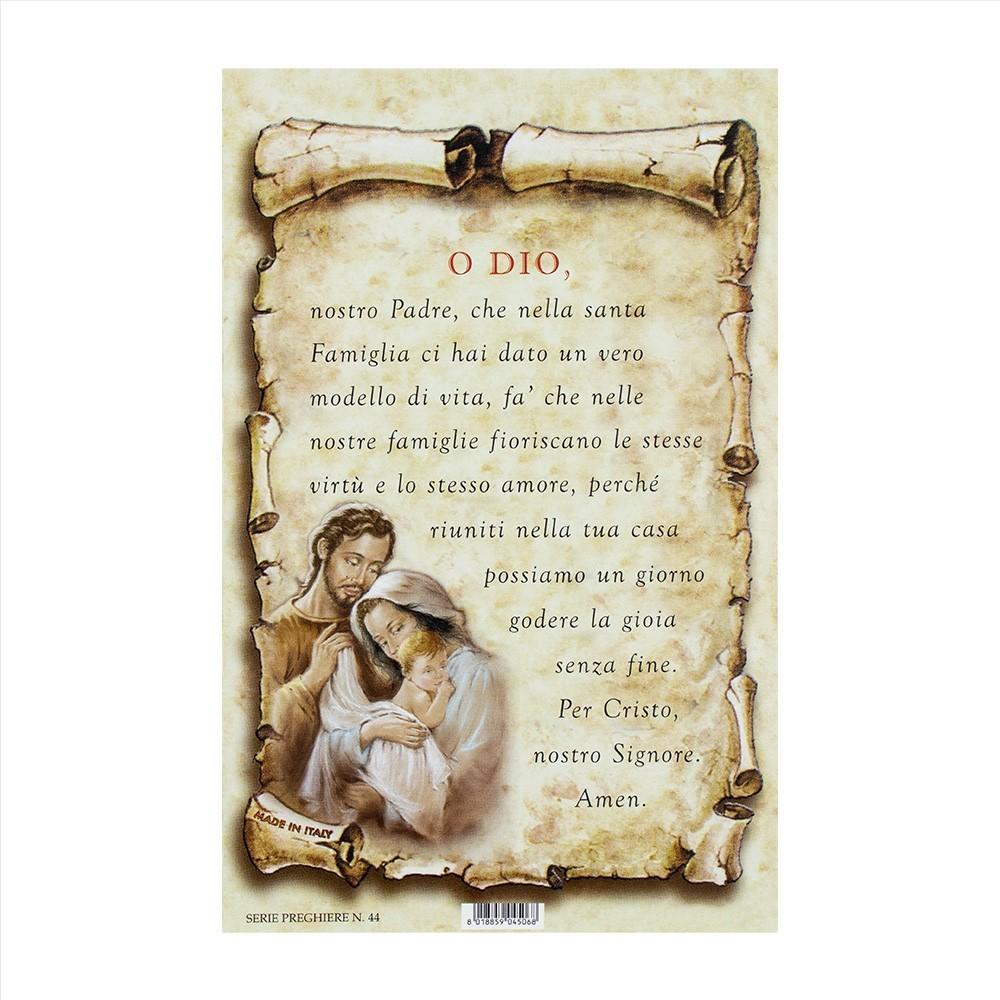 Cartoncino con Preghiera O Dio