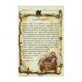 Cartoncino con Preghiera