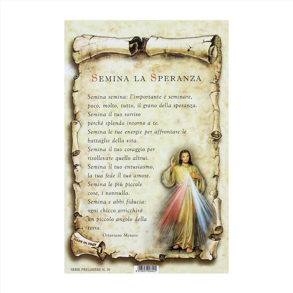 Cartoncino Pergamena con Preghiera