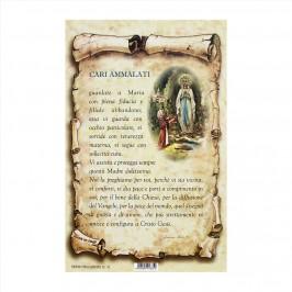 Cartoncino Preghiera per gli Ammalati