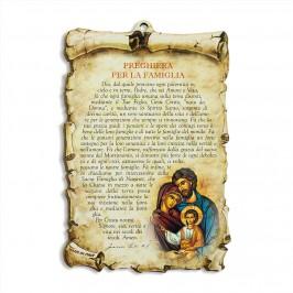 Quadretto legno con Preghiera per la Famiglia
