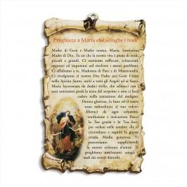 Tavoletta con Preghiera a Maria che Scioglie i Nodi