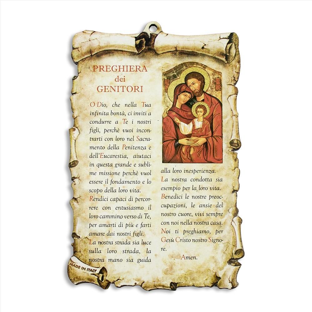 Quadretto con Preghiera dei Genitori