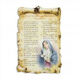 Quadretto con Preghiera Cantico della Vergine