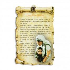 Quadretto con Preghiera Insegnami l'Amore
