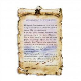 Quadretto Legno con Messaggio di Tenerezza