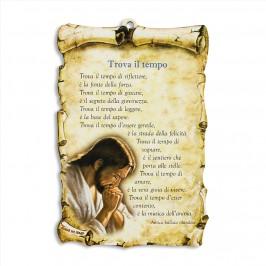 Quadretto con Preghiera Trova il Tempo
