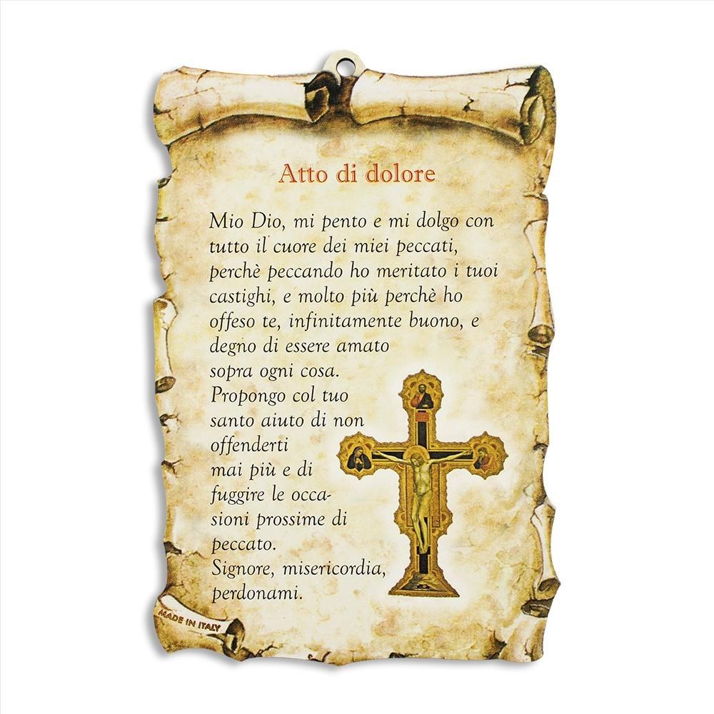 Quadretto con Preghiera Atto di Dolore
