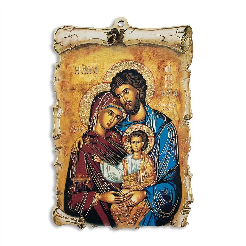 Quadretto Legno Sacra Famiglia