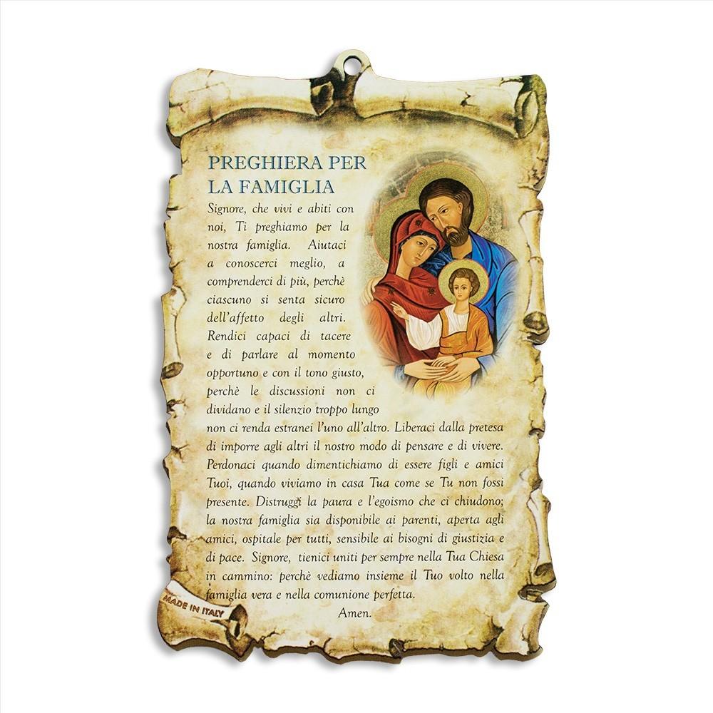 Quadretto con Preghiera per la Famiglia