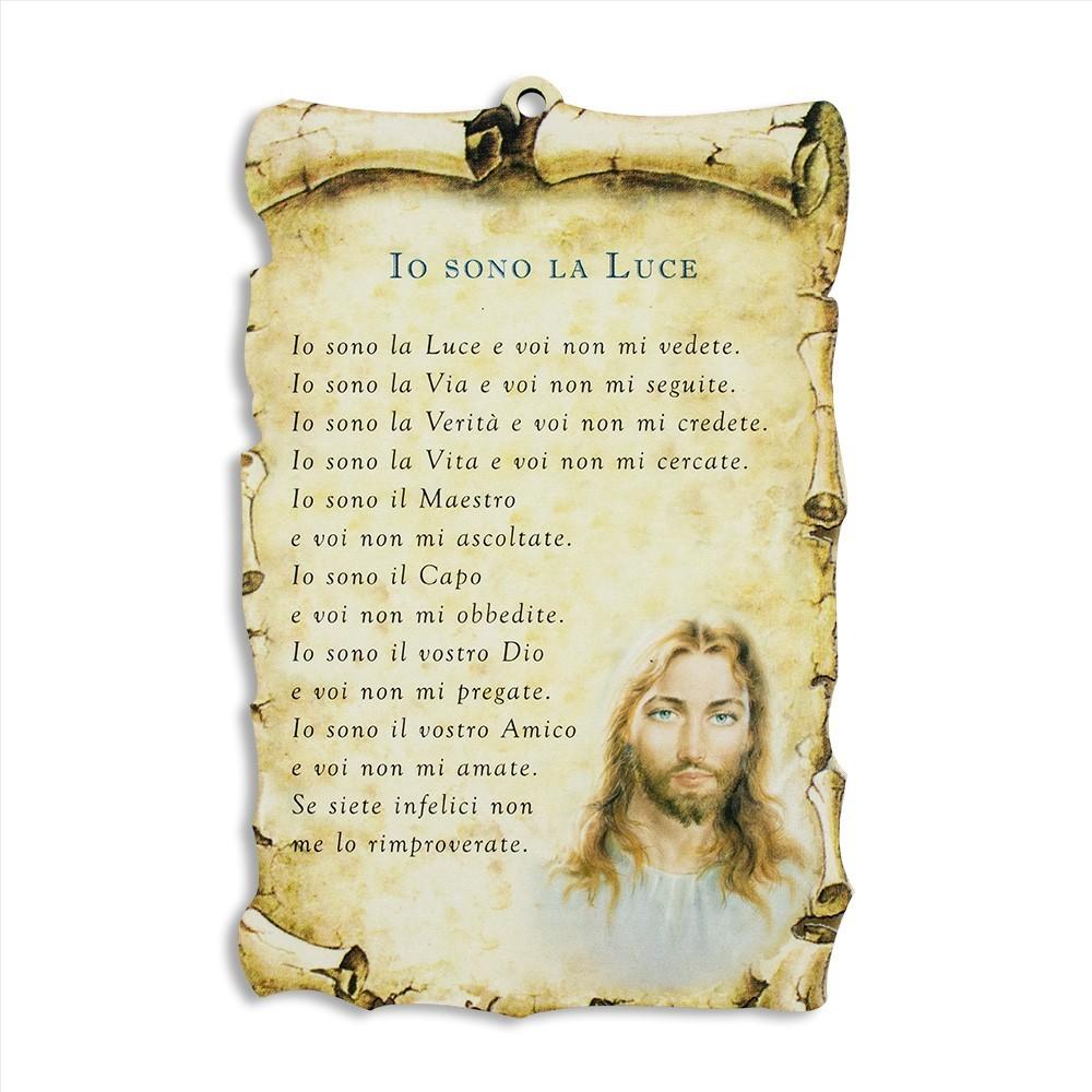 Quadretto con Preghiera Io sono la Luce