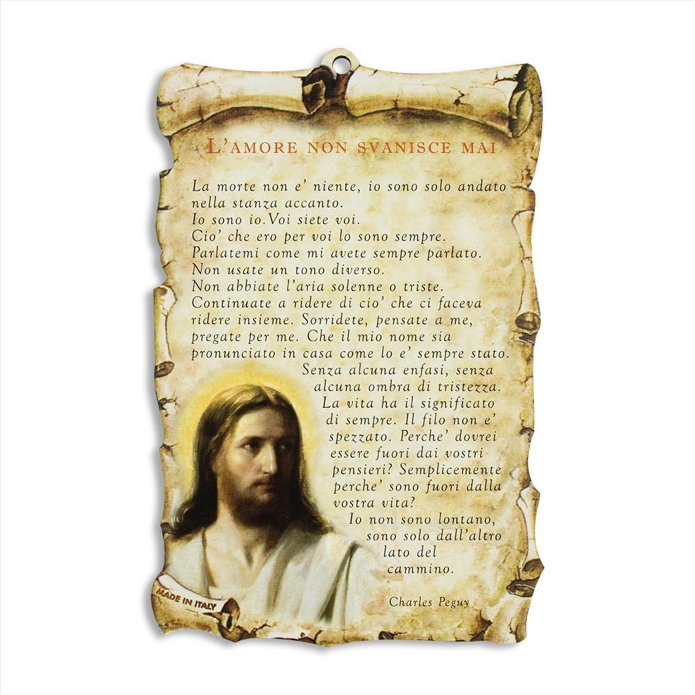 Quadretto Legno con Preghiera