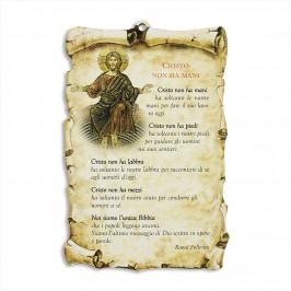 Quadretto con Preghiera Cristo non ha Mani
