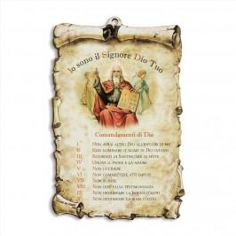 Quadretto con i Dieci Comandamenti
