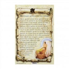 Cartoncino Preghiera Mandami Qualcuno da Amare