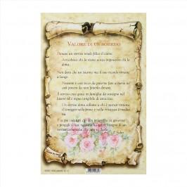 Cartoncino Preghiera Valore di un Sorriso