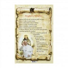 Cartoncini con Preghiera Semplice
