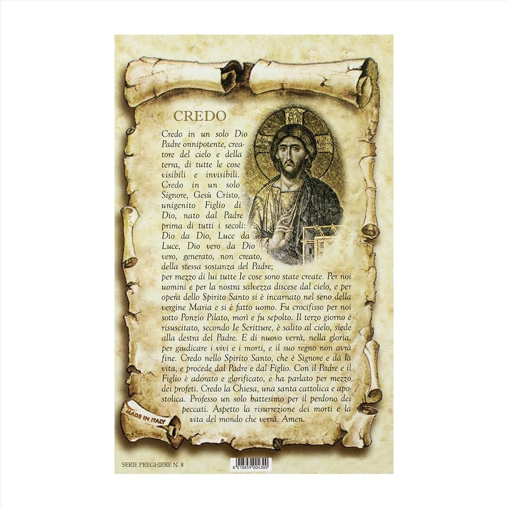 Cartoncino con Preghiera Credo