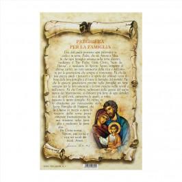 Cartoncino con Preghiera per la Famiglia