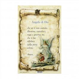 Cartoncini con Preghiera Angelo di Dio