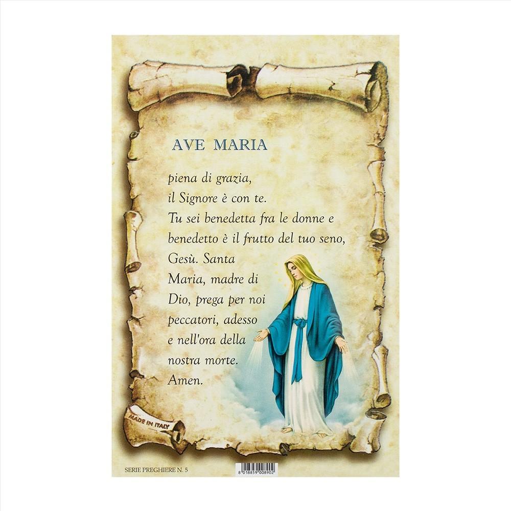 Cartoncini con Preghiera Ave Maria