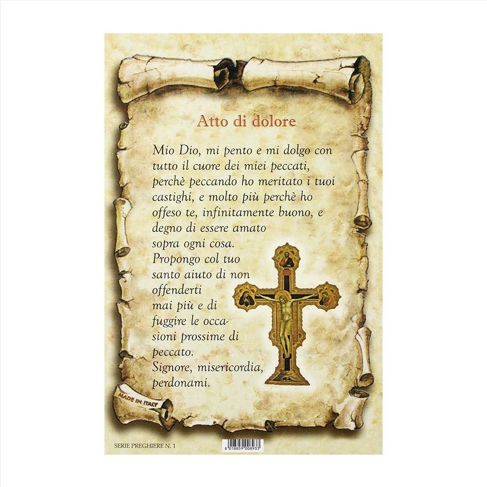 Preghiera Atto di Dolore