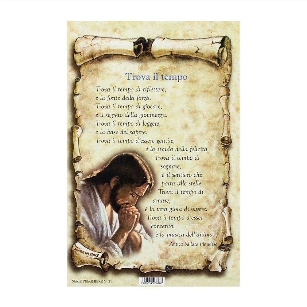 Cartoncino con Preghiera Trova il Tempo