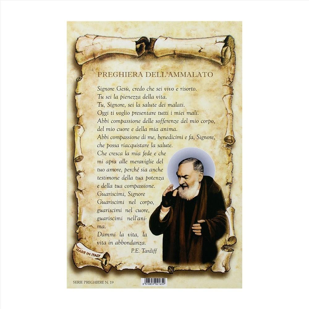 Cartoncino con Preghiera dell'Ammalato