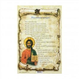 Cartoncino con Preghiera Ricomincia Sempre