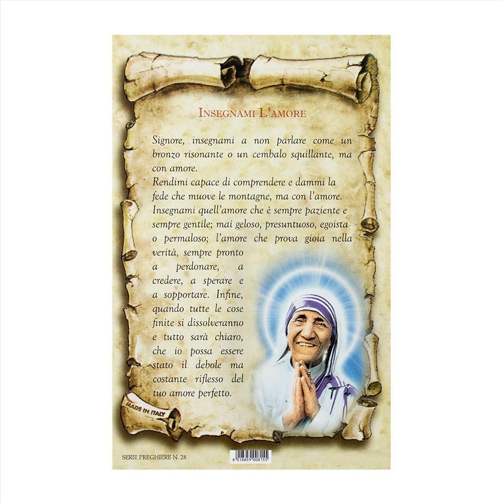 Cartoncino con Preghiera Insegnami l'Amore