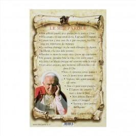 Cartoncino con Preghiera Le Mie Parole