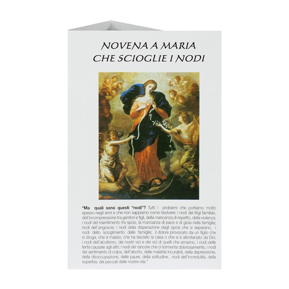Pieghevole Novena a Maria che Scioglie i Nodi