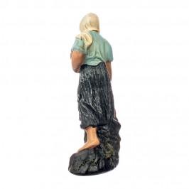 Contadina con Brocca in Gesso 15 cm