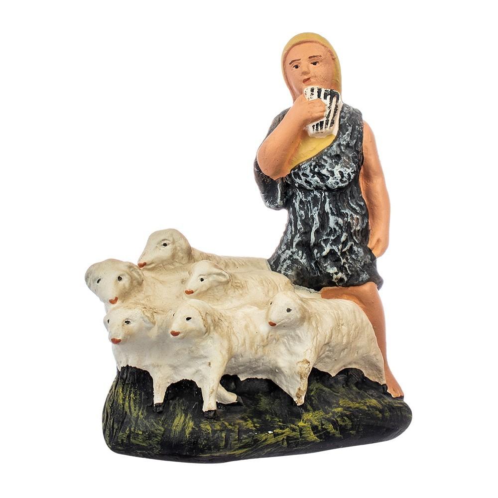 Pastore con Gregge  di Pecore in Gesso