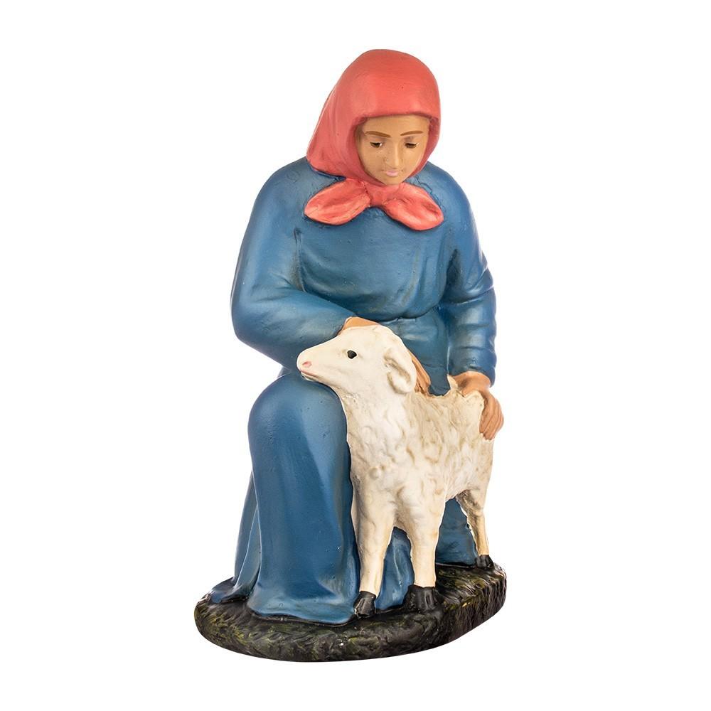 Contadina con Pecorella in Gesso