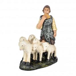 Pastore con Pecorelle 30 cm in Gesso