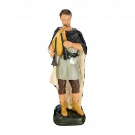 Statua Pastore con Cornamusa 60 cm in Gesso