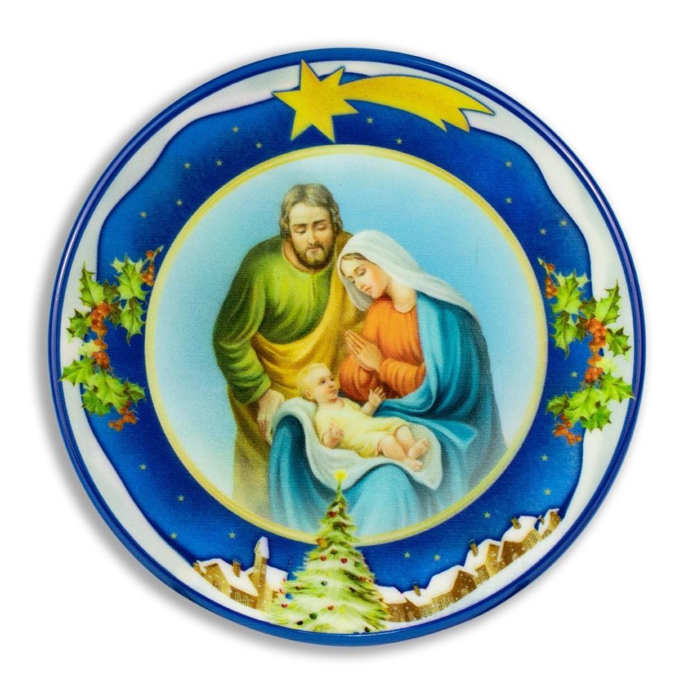 Piatto Natalizio Effetto Ceramica