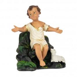 Statua Gesù Bambino con base in Gesso