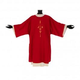 Dalmatica Rossa Ricamo JHS