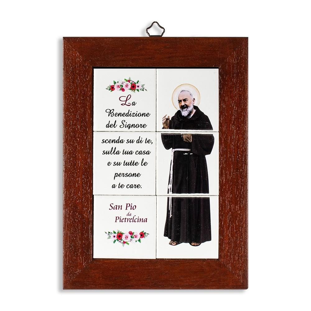 Quadretto San Pio con Mosaico