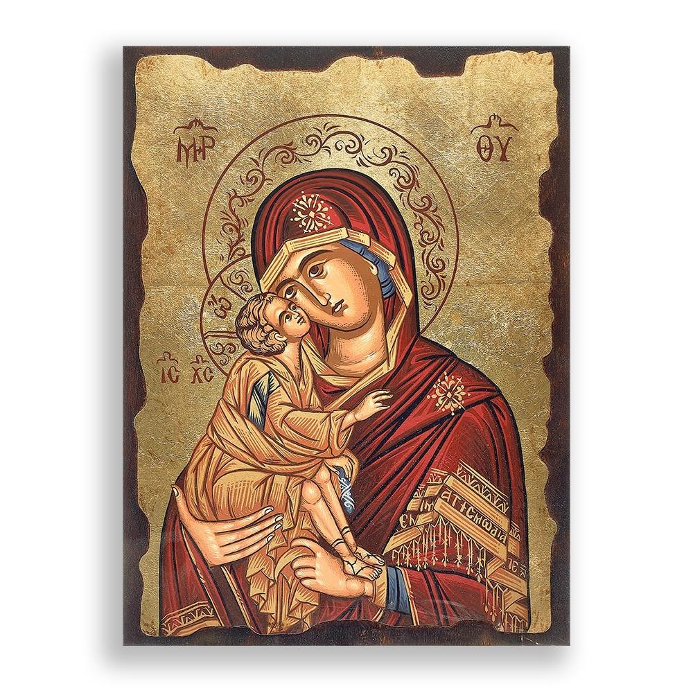 Icona Madonna con Bambino 40x30 cm