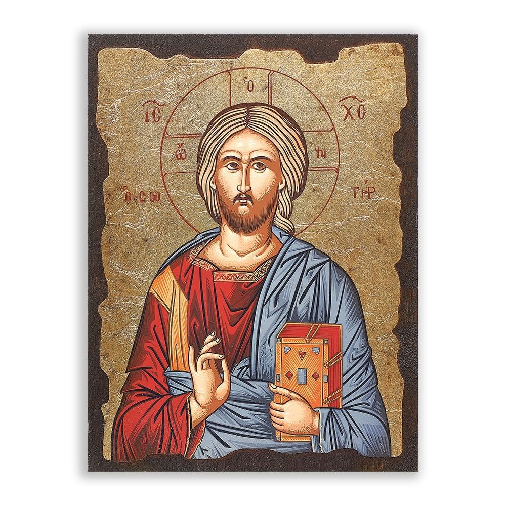 Icona in Legno Gesù Pantocratore
