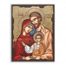 Icona Sacra Famiglia in Legno