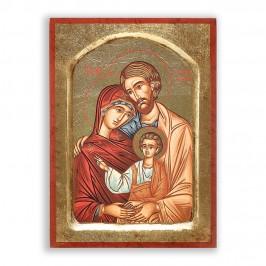 Icona Sacra Famiglia 16x22 cm