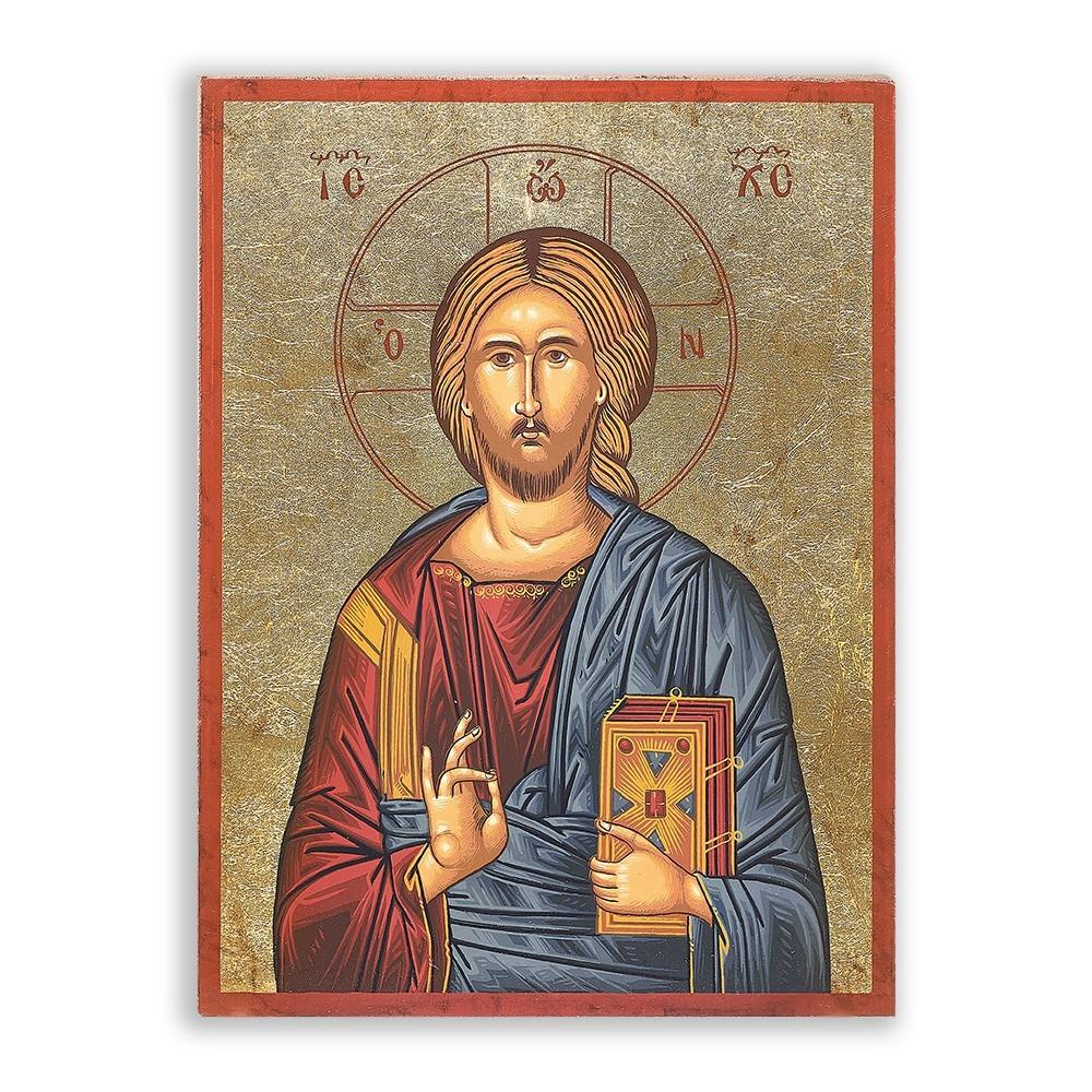 Icona Gesù Pantocratore 16x22 cm