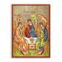 Icona Trinità su Foglia Oro