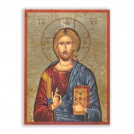 Icona Legno Gesù Pantocratore